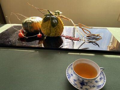 「冬至」の室礼と紅茶